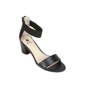 White Mountain black ankle strap heels size 9